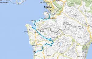 Parenzana percorso map
